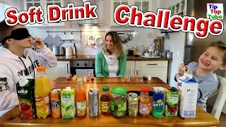 SOFT DRINK SAFT CHALLENGE | Ash vs Max | geronnene Milch als Bestrafung | TipTapTube
