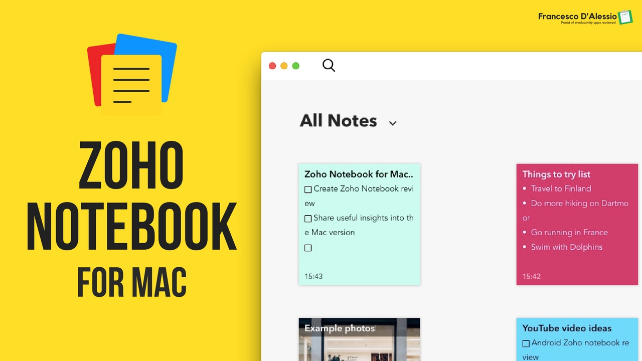 Zoho Notebook for Mac | full review