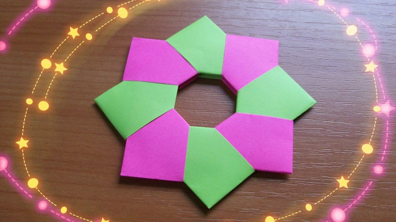 How to make Simple 3D Paper Stars, Christmas DIY, origami - YouTube   720x1280