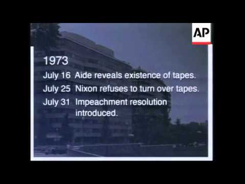 USA: WASHINGTON: NEWSEUM MOUNTS WATERGATE EXHIBITION
