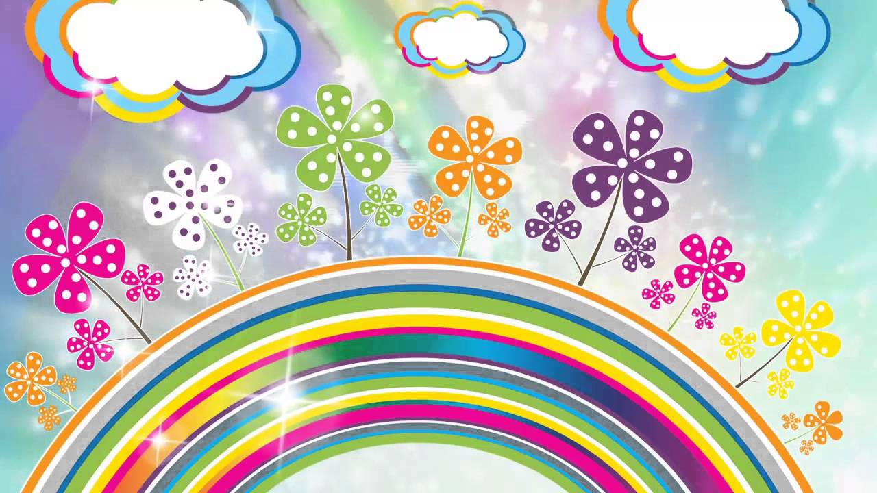 Картинки с днем рождения картинка радуга