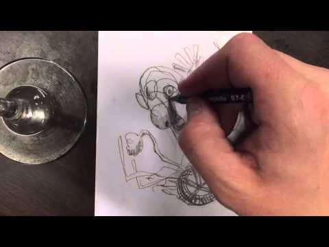 How to draw a man in a flaming wheelchair  A drawing tutorial  Tim Markel
