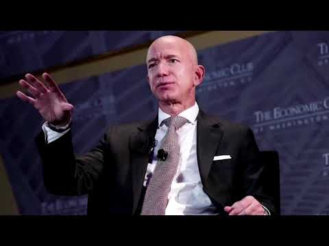 Freed from Amazon, Jeff Bezos plans space race