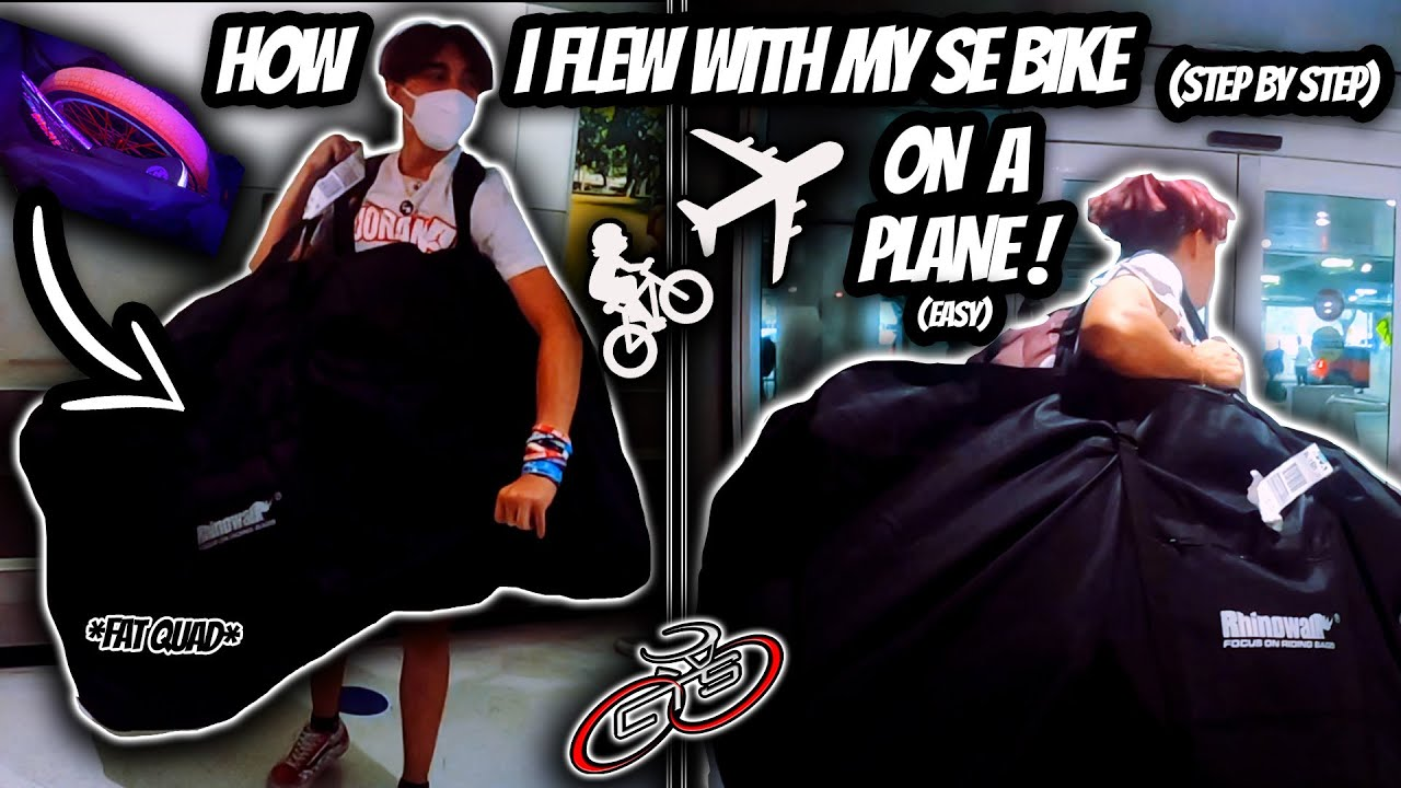 HOW TO FLY A BIKE ON A PLANE ! // FLYING WITH MY SE BIKE