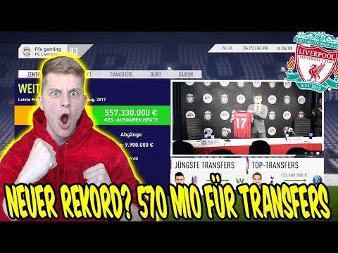 Neuer REKORD? 570 MIO € für TRANSFERS ausgegeben! ⚽ Fifa 18 Karrieremodus Fc Liverpool 11