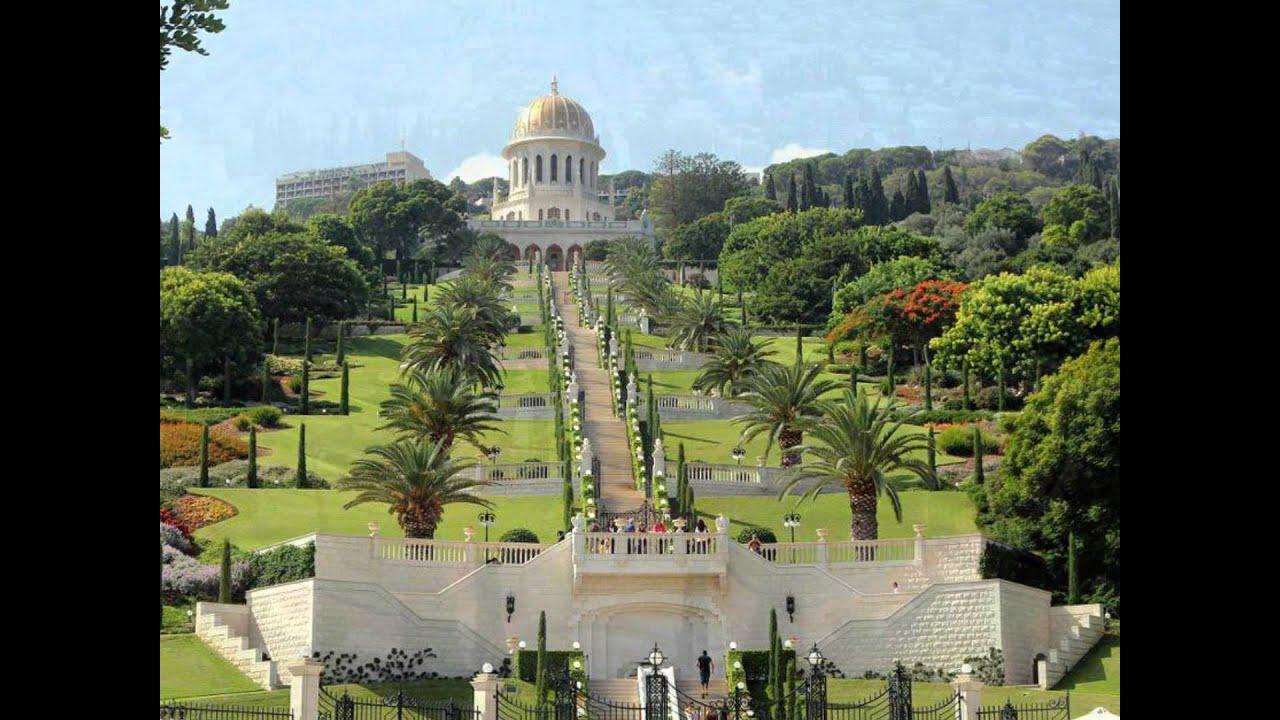 bahai garden haifa israel youtube