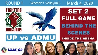 UAAP S82 Ateneo vs UP SET 2 Full Game with Cute and Funny Reactions Women's Volleyball