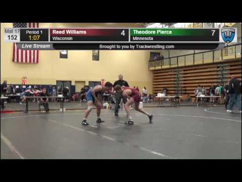 1195 Junior Men 152 Reed Williams Wisconsin vs Theodore Pierce Minnesota 7862435104