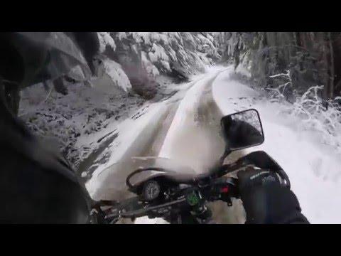 Dr650 snowday adventure