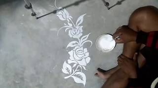 flower BOUTIQUE DESIGN/ RANGOLI DESIGNS/FABRIC DESIGNS/TABLE CLOTH DECORATION