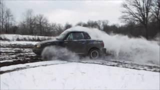 Suzuki X-90 All Wheel Drive Car Plows The Field!