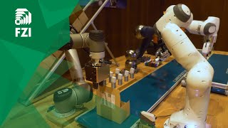 ConveyorBot 4.0 commissions customer orders with five robots and ROS-Industrial