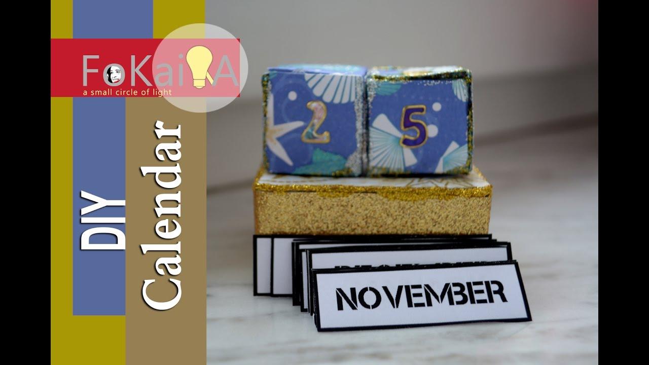 Every Year Calendar : Mini idea new year calendar diy for this and