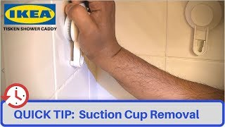 QUICK TIP: Remove IKEA Tisken Suction Cups for Corner Shower Caddy