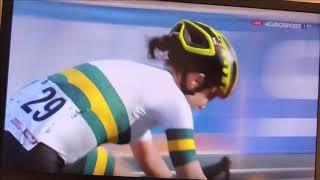 Binnenkomst EK Wielrennen als eerste Anna van der Breggen = 29 september 2018
