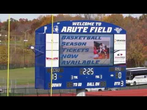 CCSU Football Scoring Video Highlights vs Robert Morris Colonials - Arute Field - October 31, 2015