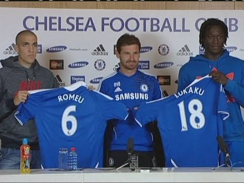 Chelsea unveil new signings Romelu Lukaku & Oriol Romeu