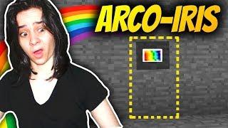PROCURANDO O BOTÃO SECRETO DE ARCO-ÍRIS no MINECRAFT!!