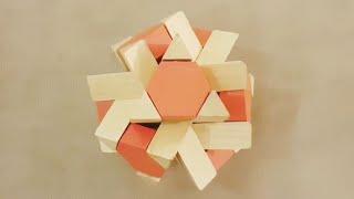 Kod 25 Mıknatıslı Turuncu Altıgen ügen Prizma çubuk Ahşap Bulmaca çözümü