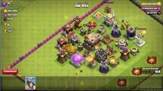 clash of clans all maxed miner attack