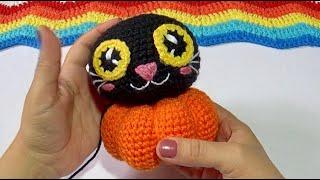 Gato Calabaza tejido a crochet  Paso a paso Video #1