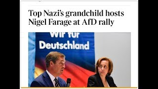 Farage accepts invitation from granddaughter of Nazi regime to speak at AfD election event