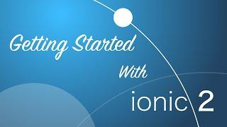ionic 2 quickstart tutorial 2016