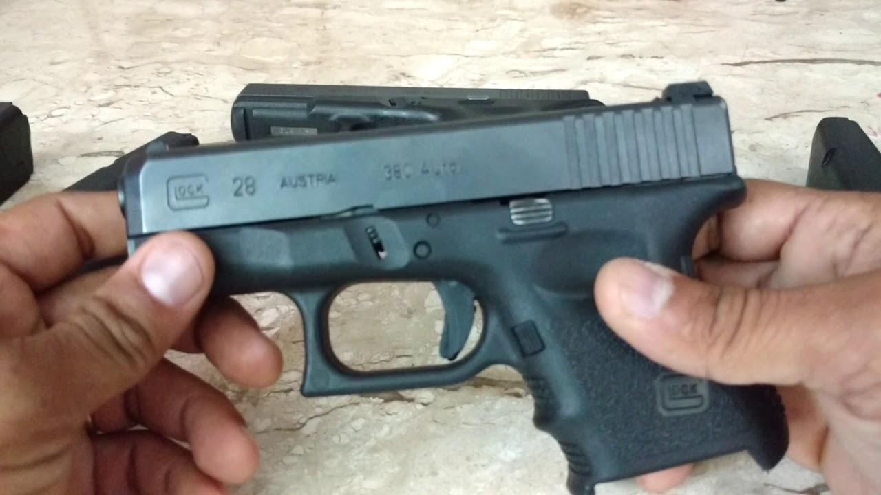 Glock G28 X Glock G25 - diferenças. - YouTube