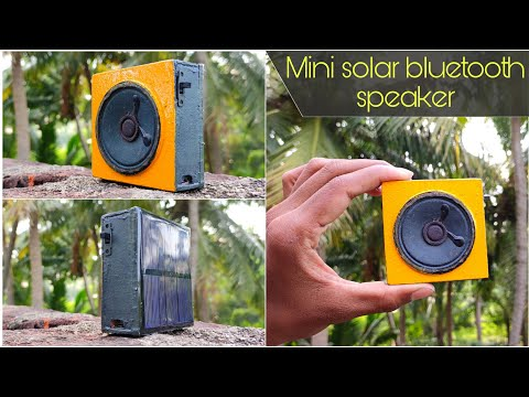 How to make mini pocket bluetooth speaker || solar bluetooth speaker | pocket size bluetooth speaker