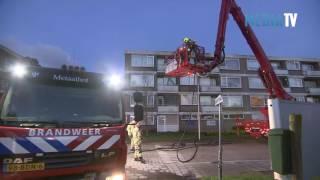 Uitslaande woningbrand Bongerd Capelle aan den IJssel