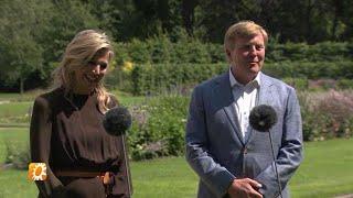 Koning Willem-Alexander valt flink af tijdens vakantie