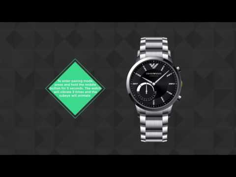 27b686e45c Emporio Armani Connected - Hybrid Smartwatch - Set Up
