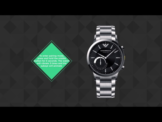 Emporio Armani Connected - Hybrid Smartwatch - Set Up