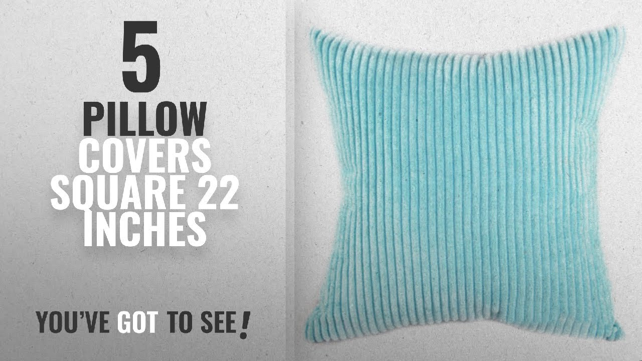 Top 10 Square 22 Inches Pillow Covers 2018 Famibay Decorative Soft Throw Cushion