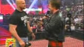 WWE   Wrestlemania 21 Stone Cold Steve Austin in Pipers Pit!! ECW   WCW   WWF   04 03 05 The Rock   2