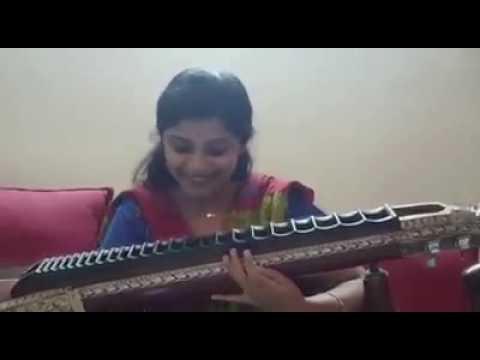 Veena Srivani plays heart touching melody song $S$ tamil telugu song