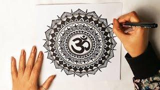 MANDALA ART 04 |  HIPPIE ART | OM | how to draw mandala art