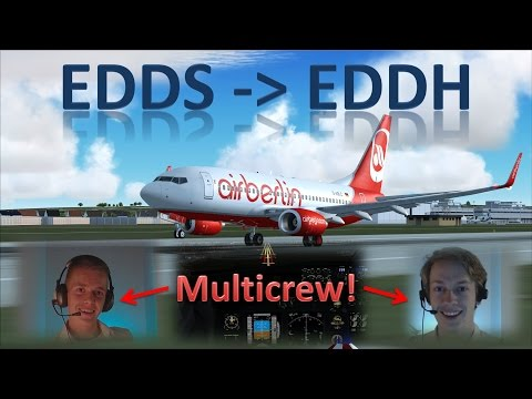 👨‍✈️✈️👨‍✈️ VATSIM: Multicrew Flight! | Stuttgart to Hamburg - FULL ATC!! | IFR Flight Example