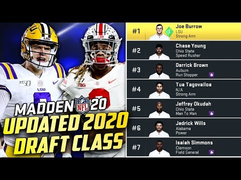 Updated 2020 NFL Draft Class with Real Rookies in Madden 20 - YouTube