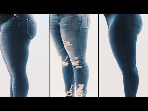 strukturelle Behinderungen Super günstig um 50 Prozent reduziert Plus Size, Curvy Jeans Haul/Try-On | AE, H&M, Fashion Nova