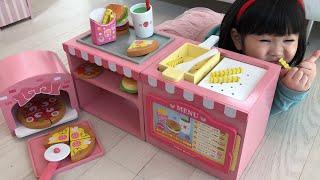 ファーストフードのおもちゃでお店屋さんごっこ!フライヤーでポテトも揚げよう!Pretend Play as a Fast Food Shop Toy