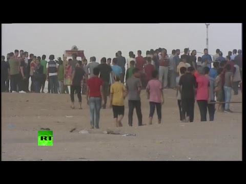 Enfrentamientos en la frontera de Gaza con Israel