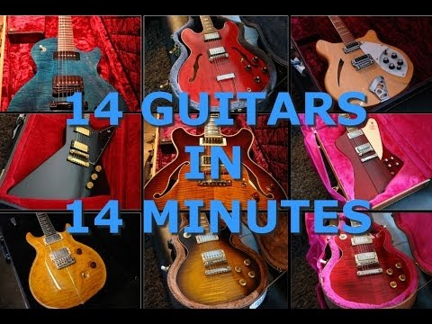 14 Guitars In 14 Minutes - Sound Comparison PART 1/2