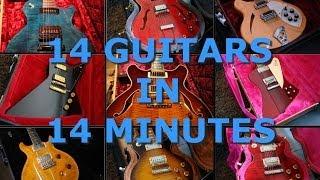 14 Guitars in 14 minutes - Sound Comparison PART 1/2