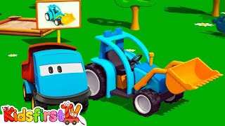 Kids 3d Construction Cartoons For Children 4: Leo The Truck Builds A Tractor! {トラクター} Kid'sfirsttv