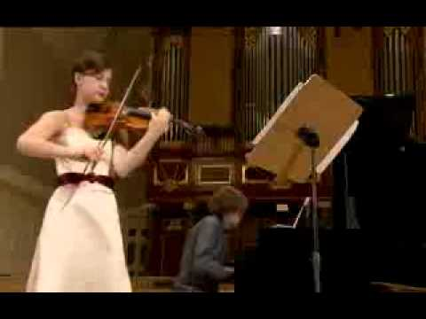 Celina Kotz plays at 14th International Henryk Wieniawski Violin Competition 2011 (Stage 2)