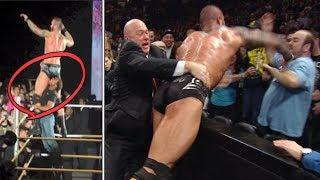 Top 10 Peleas REALES De Luchadores vs Fans | ataques de fans