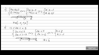 Алгебра 7-9 классы. 27. Системы неравенств с одной переменной