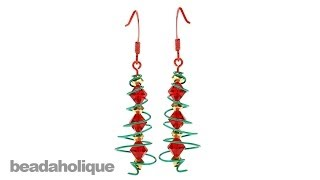 How to Make a Wire Spiral Christmas Tree Earring