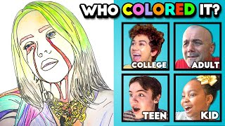 Which Generation Colored Billie Eilish's Official Coloring Book? (Kid? Teen? Adult?)